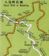 Badaling map