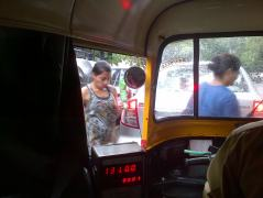 Rikshaw in rains