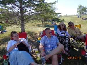 "Favourite folks in comfy ""folk fest"" chairs!"