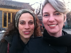 Kamila and I from a few years ago in a wintry Beijing