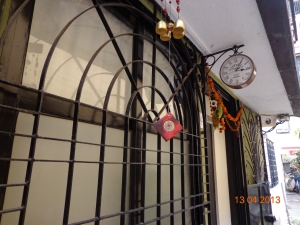 Cool clock on Chapel Road, Bandra, Bombay