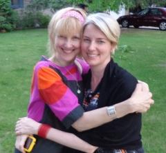 Angela + I this summer in Winnipeg