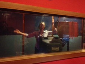 Voice recording - take one! (Looks more like I'm conducting)