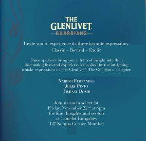 Glenlivet Guardians invite