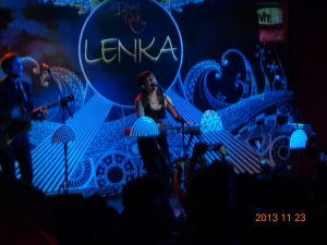 Lenka singing her heart out!