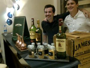 The Jameson lads with their set-up for the eve