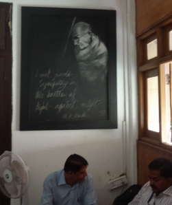 And what's office without a Gandhi quote (Photo: Carissa Hickling)