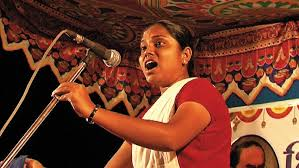 The inspiring Sheetal Sathe of the Kabir Kala Manch (Photo: Jai Bhim Comrade)