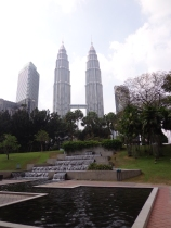The Petronas Towers by day...