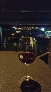 Sipping my Malbec watching planes land from BGC, Manila, Philippines