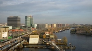 New skyline of Amsterdam...