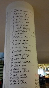 Amsterdam Library Pillar Poetry