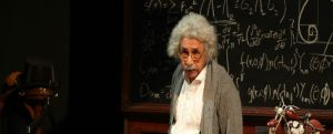 Naseer as Einstein (Photo: NCPA website)