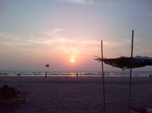 Goa sunset on New Years Eve 2013