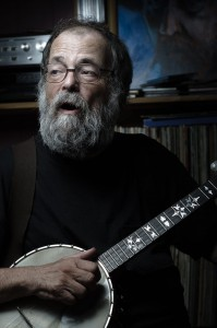 Mitch Podolak with his mandolin