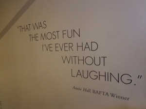 2015-07-03 London BAFTA Annie Hall Quote