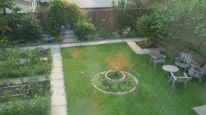 Winnipeg home backyard