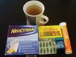 Sick chick's global weapons to fight a cold!