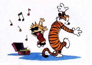 calvin hobbes Happy Dance