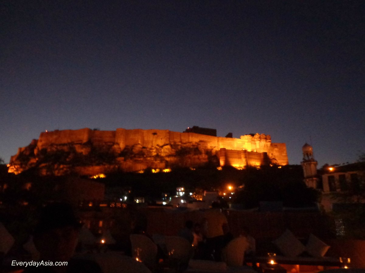 Jodhpur's Mehrangarh Fort from Raas Haveli