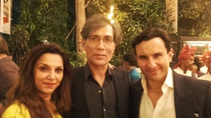Lilette, Denzil & Saif at the Prithvi Festival opening