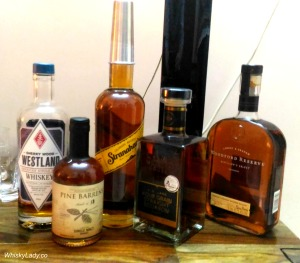 Westland, Pine Barrels, Stranahan's, Four Roses, Woodford